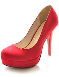 baratos -salto agulha camurça fechado do dedo do pé partido bombas / noite sapatos (mais cores)