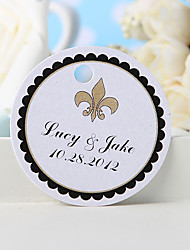 cheap -Personalized Favor Tag - Flower-de-luce (Set of 36) Wedding Favors