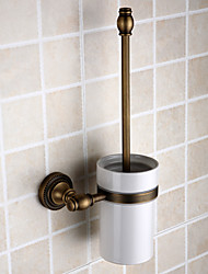 cheap -1pc Removable Antique Brass Toilet Brush Holder