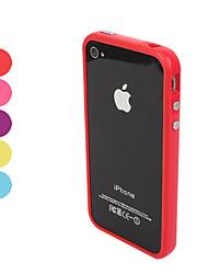 Недорогие -Кейс для Назначение iPhone 4/4S / Apple Бампер Мягкий ТПУ для iPhone 4s / 4