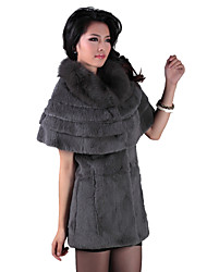 cheap -Short Sleeve Party/Evening Rabbit Fur Fox Fur Collar Coat (More Colors)