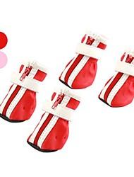 povoljno -Pas Cipele i čizme Slatko Božić Jednobojni Crvena Pink Za kućne ljubimce