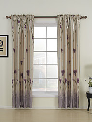 cheap -Two Panels Curtain Country, Print Bedroom Polyester Material Curtains Drapes Home Decoration