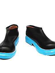 cheap -Miku Black Blue Sole Low-cut Cosplay Shoes
