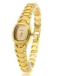 economico -Da donna Orologio alla moda Orologio braccialetto Quarzo Banda Vintage classe Oro Dorato