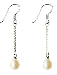 cheap -Women's Pearl Drop Earrings - Drops Pearl Alloy For