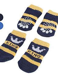 preiswerte -Hund Socken Lässig/Alltäglich warm halten Streifen Schwarz Blau Für Haustiere