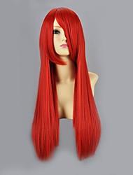 Parrucche Cosplay Naruto Sarah Rosso Medio Anime Parrucche Cosplay 60 CM Tessuno resistente a calore Donna