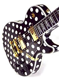 Недорогие -Derulo - (черный и белый мир) полноценного красного белую точку electic гитара с мешком / ремень / выборы / кабель / сглаз бар