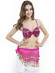 Belly Dance Tops Women's Performance Polyester Sequins 1 Piece Sleeveless Bra