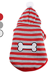 povoljno -Pas Hoodies Odjeća za psa Dungi Obala Sive boje Crvena Pamuk Kostim Za kućne ljubimce
