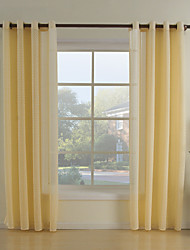 Due pannelli Trattamento finestra Neoclassicismo Salotto Tessuto sintetico Materiale Sheer Curtains Shades Decorazioni per la casa For
