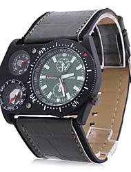 Oulm Pánské Vojenské hodinky Křemenný Japonské Quartz PU Kapela Černá