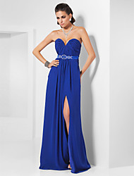 Sheath / Column Strapless Sweetheart Floor Length Chiffon Evening Dress with Crystal by TS Couture®