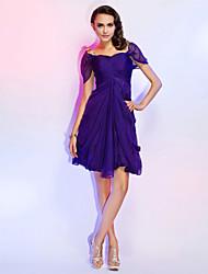 Un vestito da partito di cerimonia nuziale chiffon del bicchierino / mini collo della principessa di a-line con bordare da ts couture®