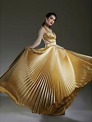 Guaina / colonna v-collo lunghezza pavimento charmeuse abito da sposa con bordatura da ts couture®