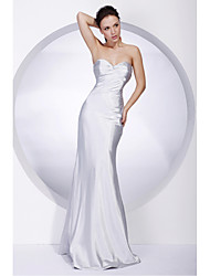 cheap -Mermaid / Trumpet Strapless Sweetheart Floor Length Stretch Satin Formal Evening Military Ball Dress with Beading Ruched by TS Couture®