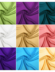 cheap -Chiffon Fabric Swatch by the 1 Yard with 32 colors