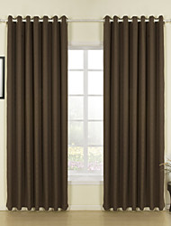 cheap -Two Panels Curtain Modern Solid Living Room Linen Material Curtains Drapes Home Decoration