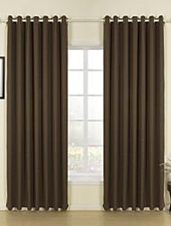 Недорогие -2 шторы Окно Лечение Modern Однотонный Гостиная Лён материал Шторы портьеры Украшение дома