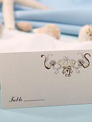Недорогие -карта места - элегантный цветок patten (набор из 12) свадебный прием