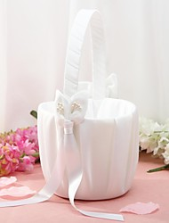 cheap -Beautiful Wedding Flower Basket Satin Petals Wedding Ceremony