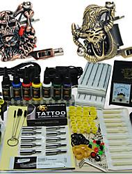 Недорогие -полный комплект машина татуировки 2 орудия с высокой качество чернил
