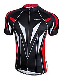 baratos -Nuckily Homens Manga Curta Camisa para Ciclismo - Amarelo / Vermelho / Azul Moto Camisa / Roupas Para Esporte, Secagem Rápida, Respirável