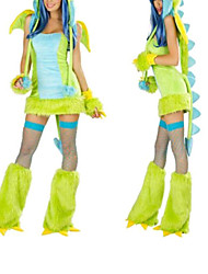 cheap -Dinosaur Cosplay Costume Party Costume Female Halloween Carnival Festival / Holiday Halloween Costumes Patchwork