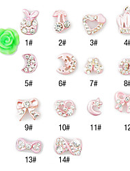 abordables -10 pcs Joyas de Uñas arte de uñas Manicura pedicura Diario Dibujos / Moda / Joyería de uñas / Metal