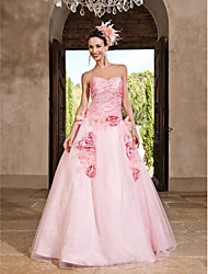 cheap -A-Line / Ball Gown / Princess Strapless / Sweetheart Neckline Floor Length Organza / Taffeta Vintage Inspired Prom / Formal Evening Dress with Beading / Crystals / Draping by TS Couture®