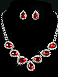 Jewelry Set Women's Anniversary / Wedding / Engagement / Birthday / Gift / Party / Special Occasion Jewelry Sets Alloy / Rhinestone
