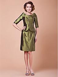 abordables -Fourreau / Colonne Mi-long Taffetas Robe de Mère de Mariée  - Boutons par LAN TING BRIDE®