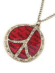 Erstaunlich Legierung mit Round Pendant Damen Halskette (mehr Farben)