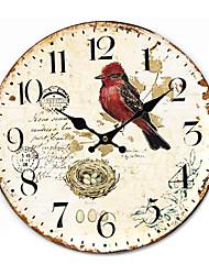 País floral e animal Relógio de parede