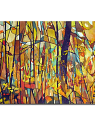 cheap -Hand-Painted Abstract / Abstract Landscape One Panel Canvas Oil Painting For Home Decoration