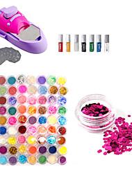 DIY Nail Art Lack Farben Druckmaschine Kit und 72 Farben Glitter Nail Art