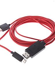 economico -MHL Micro USB maschio a HDMI maschio a maschio cavo adattatore USB per Samsung Galaxy S3 I9300