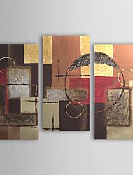 Hånd-malede Abstrakt enhver Shape Lærred Hang-Painted Oliemaleri Hjem Dekoration Tre Paneler