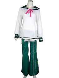baratos -Inspirado por Fantasias Fantasias Anime Fantasias de Cosplay Ternos de Cosplay / Uniformes Escolares Manga Longa Vestido / Aquecedores de Pernas Para Mulheres Trajes da Noite das Bruxas