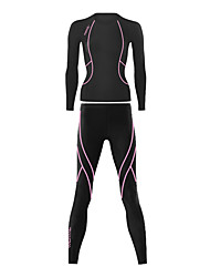 SANTIC Cycling Base Layer Women's Long Sleeves Bike Jersey Baselayer Tights Clothing Suits Top Bottoms Thermal / Warm Breathable Spandex