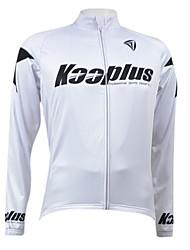 Kooplus Jaqueta para Ciclismo Homens Manga Longa Moto Camisa/Roupas Para Esporte Blusas Secagem Rápida Forro de Velocino Zíper Frontal