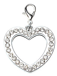 cheap -Dog tags Rhinestone Decorated Heart Type Photo Frame Style Collar Charm for Dogs Cats