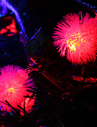 Недорогие -7M 30-светодиодный Snowball-Shaped Красочный светодиодные Газа Fairy лампы для фестиваля украшения (220)