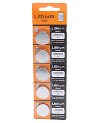 cheap -3V CR2032 Lithium Button Battery (5pcs)