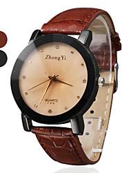 abordables -Mujer Reloj de Vestir Reloj de Moda Cuarzo Gran venta PU Banda Encanto Negro Marrón