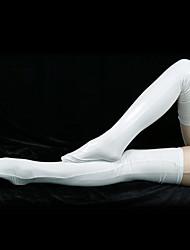 billige -Sokker og Strømpebukser Catsuit Huddrag Ninja Voksne Cosplay-kostymer Ensfarget Spandex Herre Dame Halloween / Strømper / Høy Elastisitet