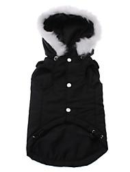 Hund Hættetrøjer Hundetøj Solid Sort Kostume For kæledyr