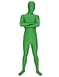 economico -Costumi zentai Tutina aderente Tuta di pelle Costumi corpo intero Ninja Per adulto Costumi Cosplay Tinta unita Licra Per uomo Halloween / Elevata elasticità