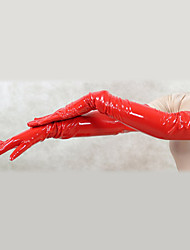 cheap -Gloves Ninja Zentai Cosplay Costumes Red Solid Gloves PVC Unisex Halloween